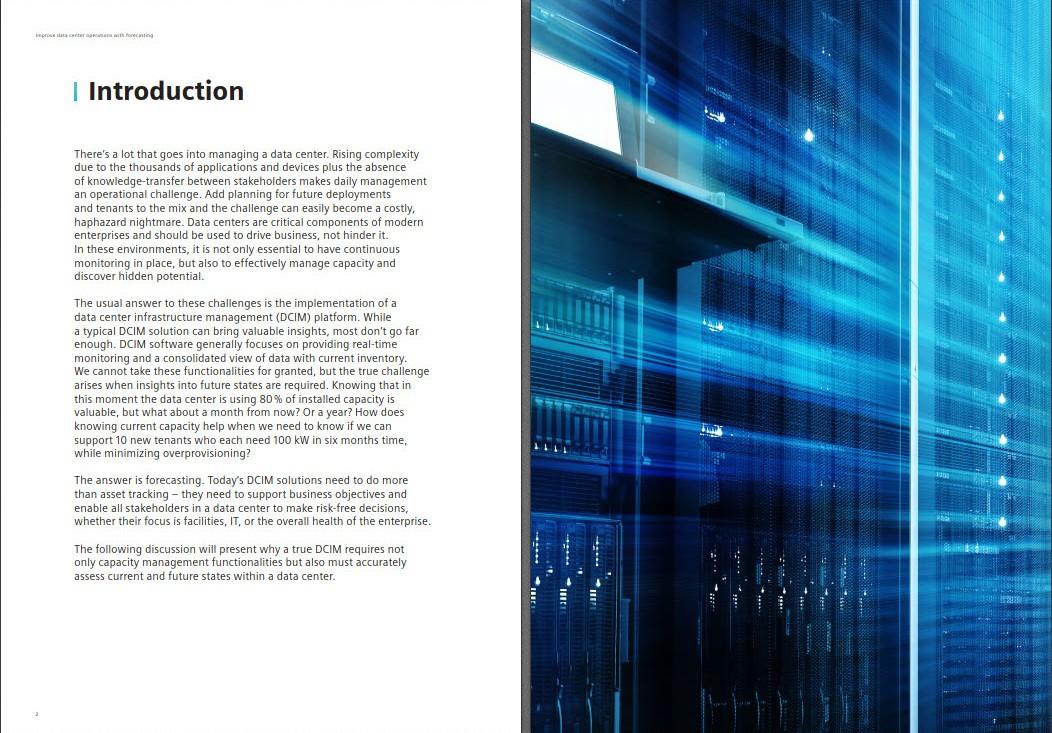 data center management white paper forecasting