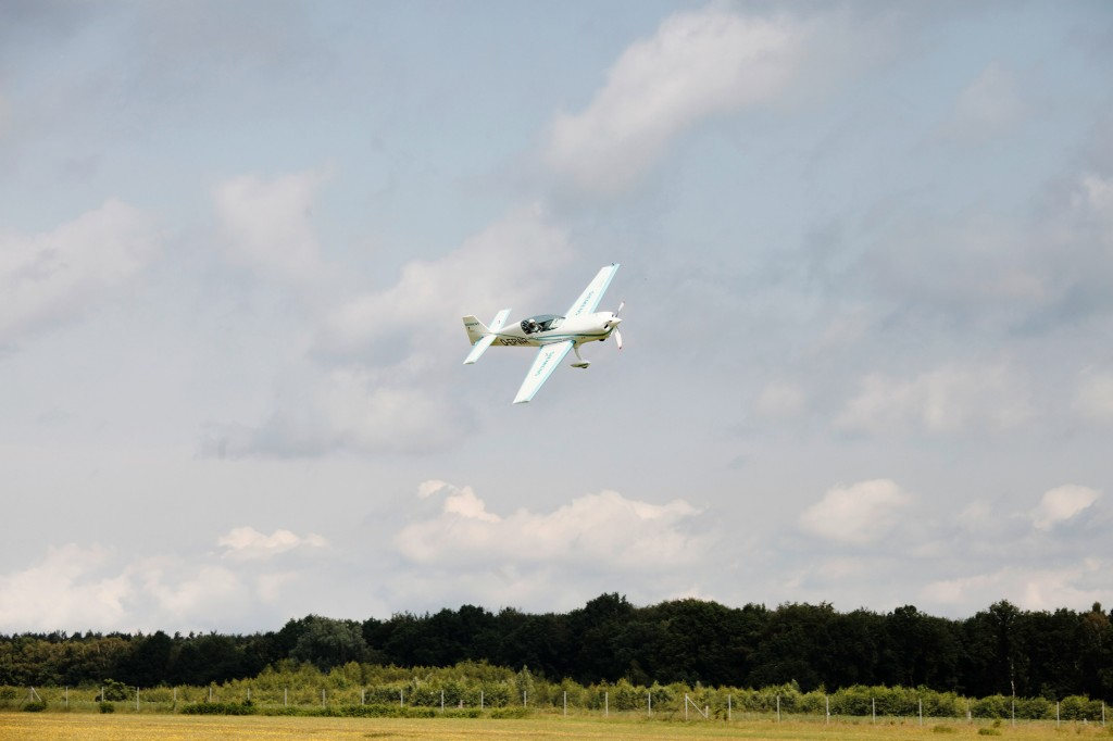 Maiden flight with a record-setting motor