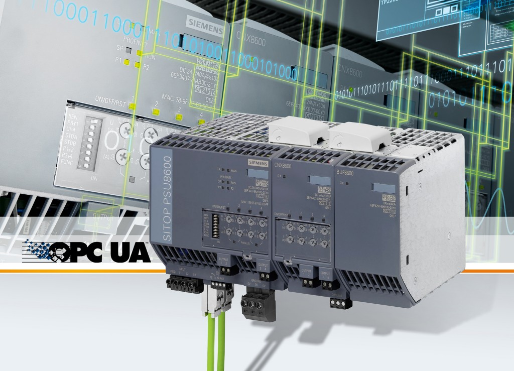The picture shows the Sitop PSU8600 power supply system from Siemens.