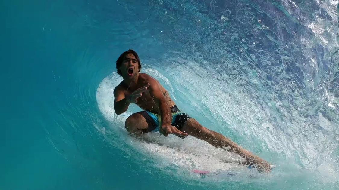 Surfer at Surf Loch waves