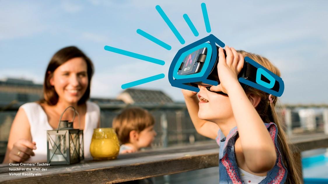 Claus Cremers' Tochter laucht in die Welt der Virtual Reality ein.