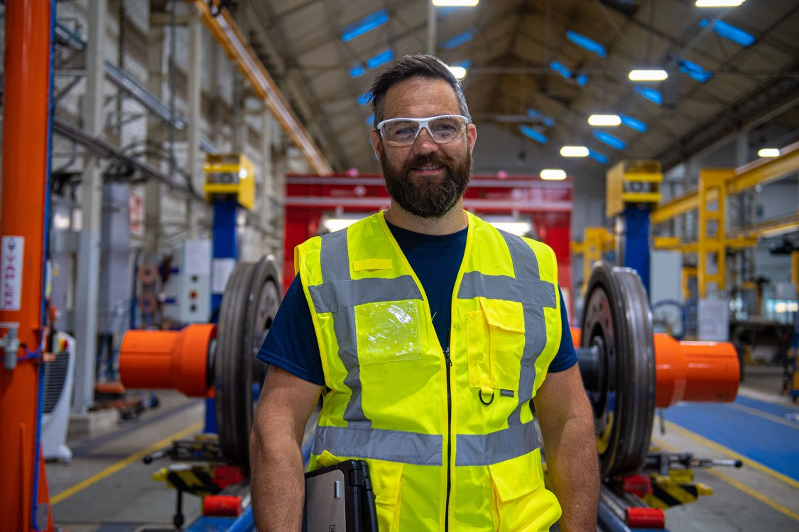 Portraitfoto Sebastian - Siemens Mobility Kampagne