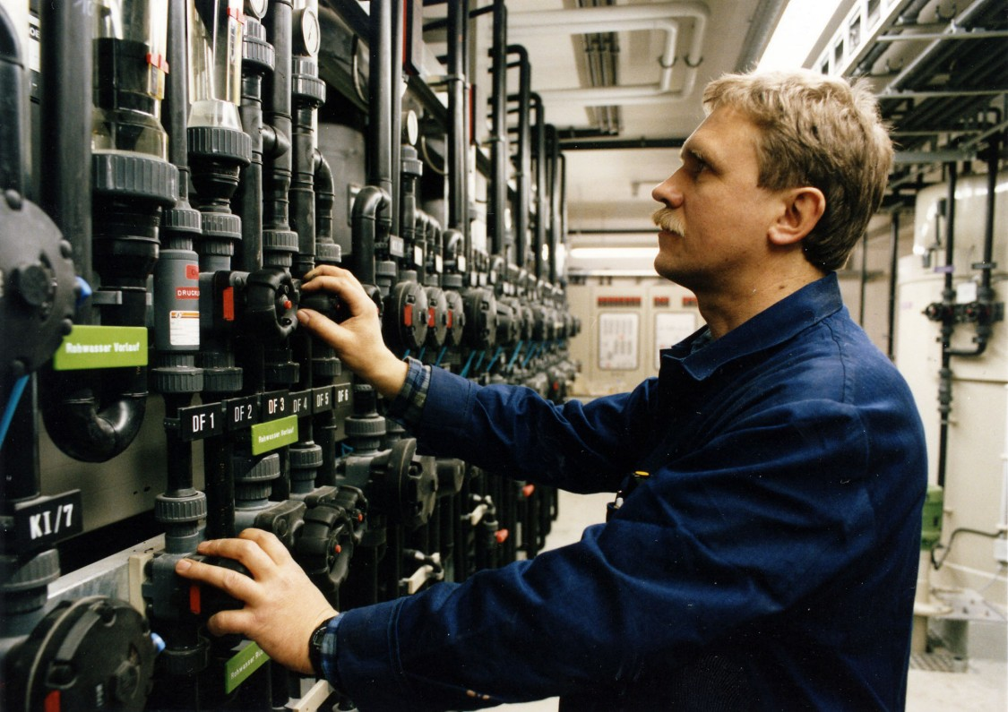 Galvanikanlage im Siemens-Röntgenröhrenwerk in Rudolstadt, 1993