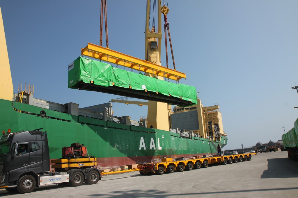 The modules for the first HRSG for Egypt