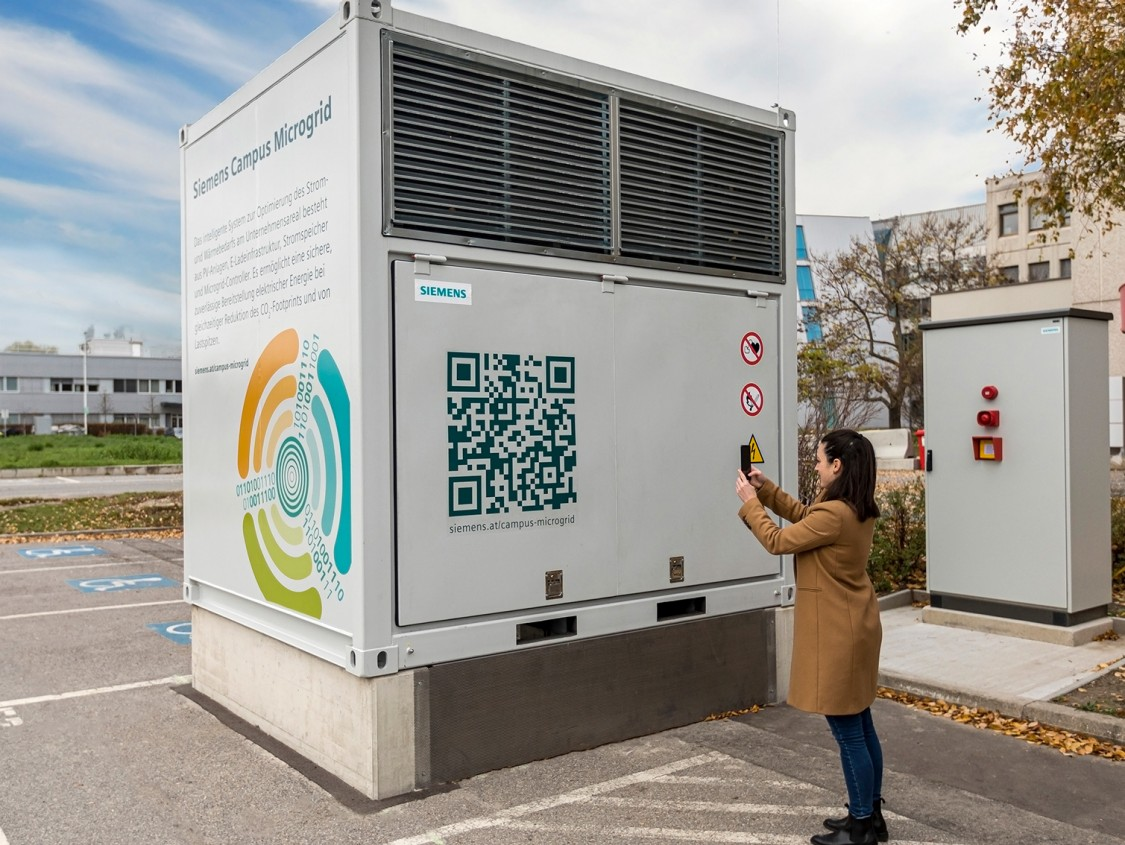 The 500 kWhbattery storage solution helps to maximize the utilization of locally generated energy.