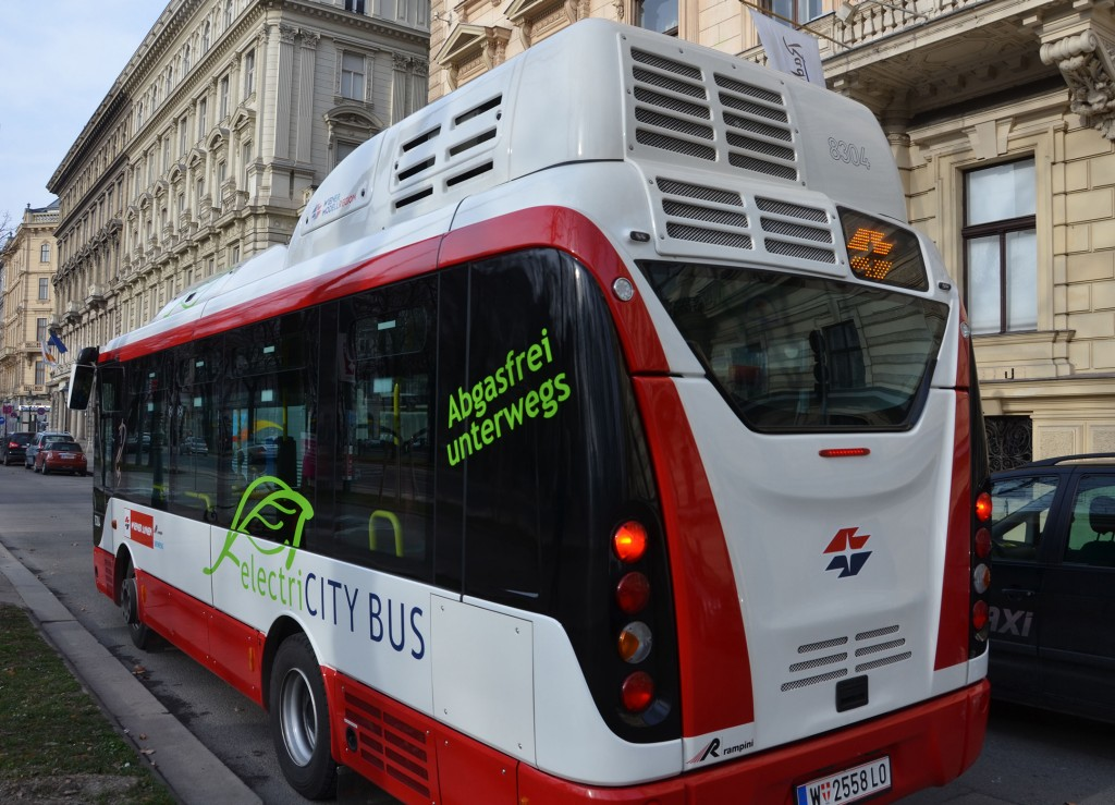 Fully electric city buses for environmentally friendly mass transit
