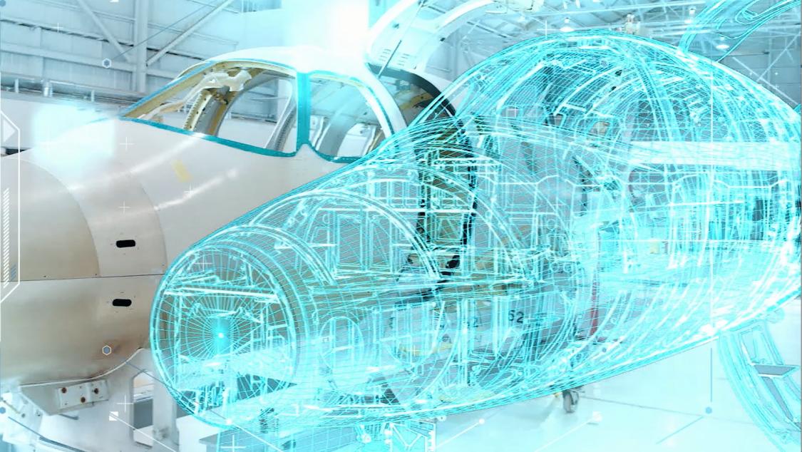 Digitaler Zwilling Flugzeug von Siemens