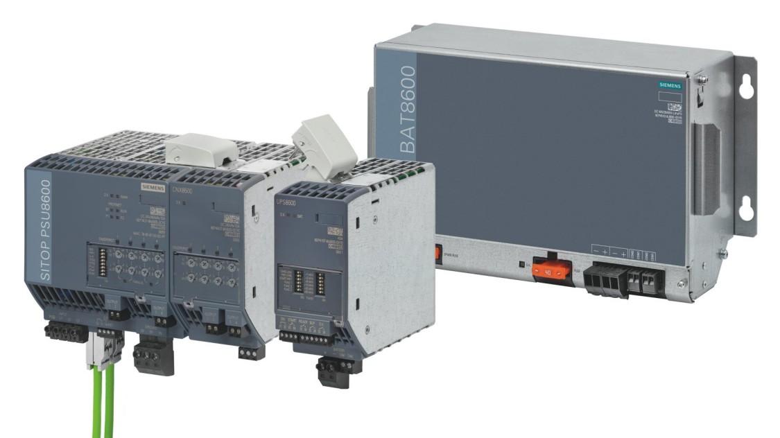 Produktgruppenbild der SITOP PSU8600 mit Puffer-/USV-Modulen