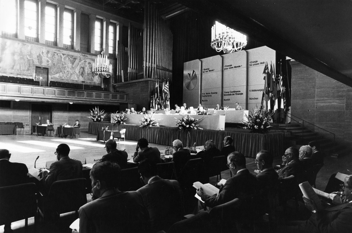 Meeting at the World Engery Conference in Munich, 1980