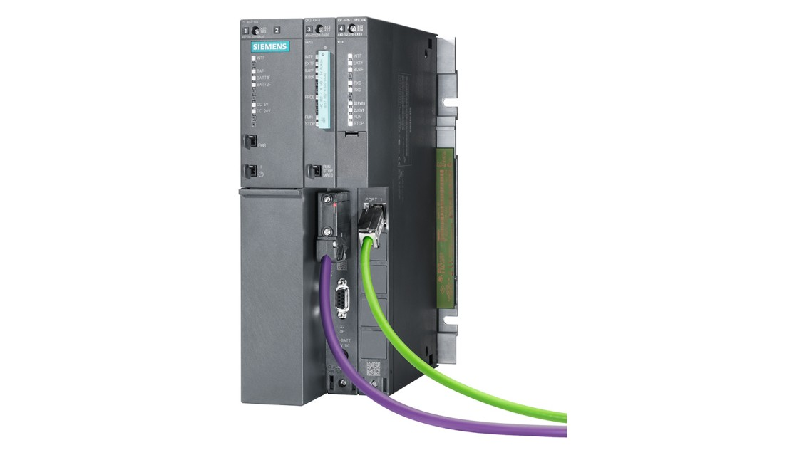 Product image of an advanced controller SIMATIC S7-400 with CP 443-1 OPC UA communications processor
