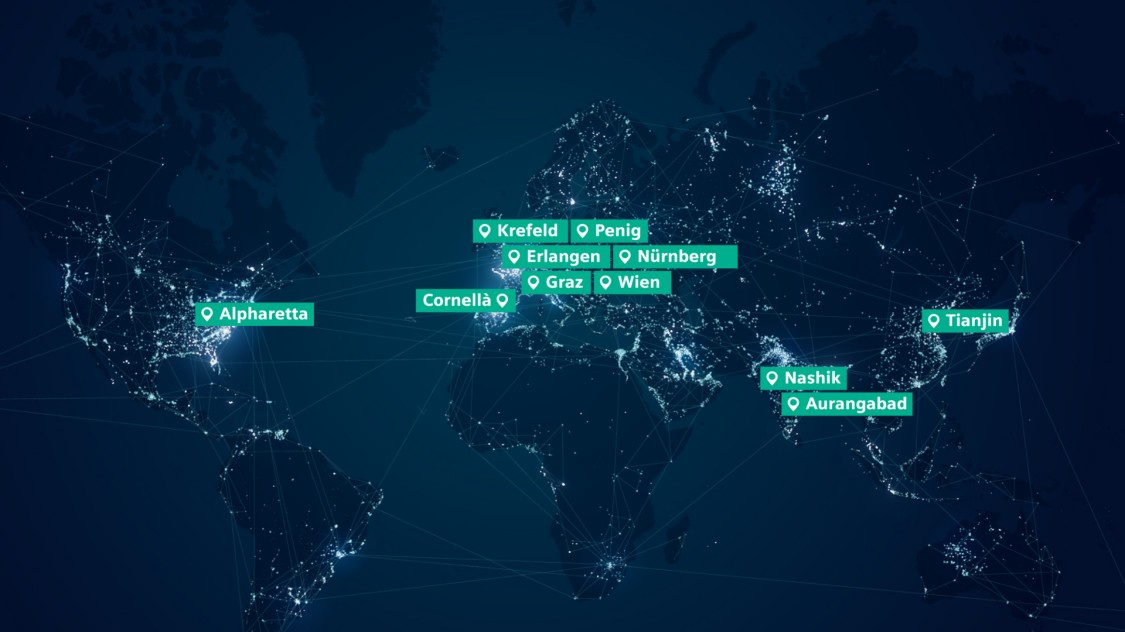 MoComp development and production sites around the world