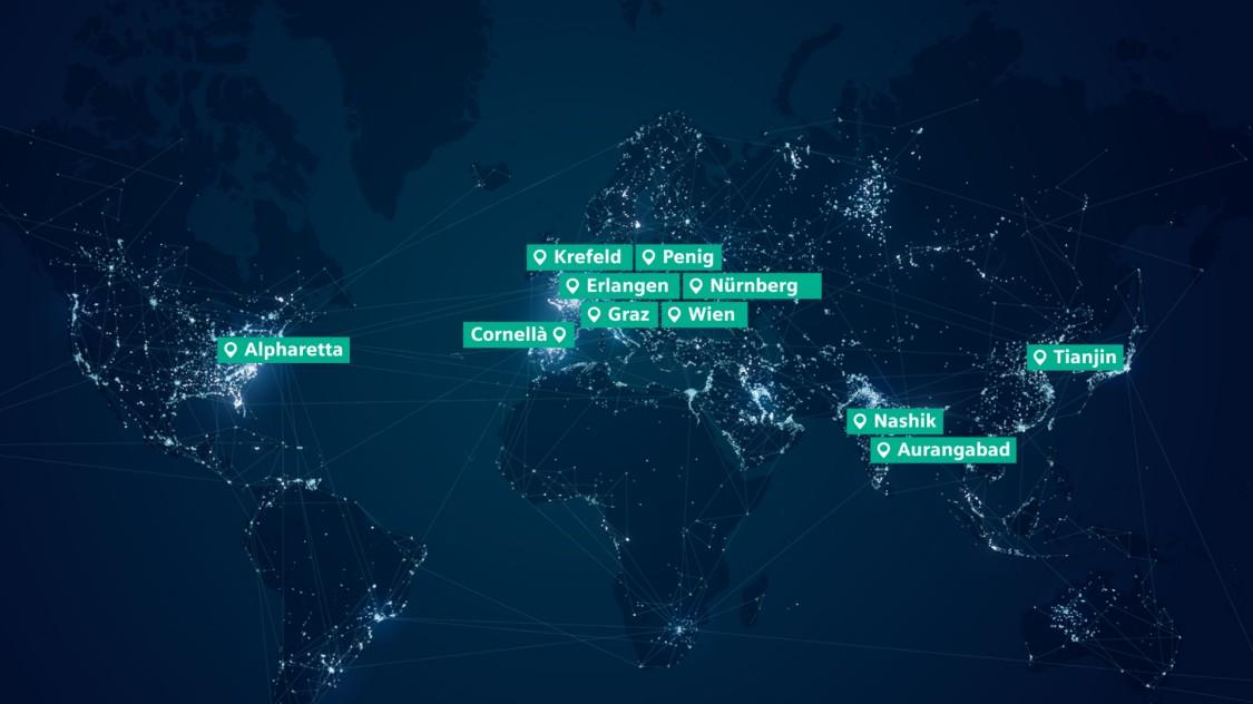 Karte der weltweiten MoComp-Standorte