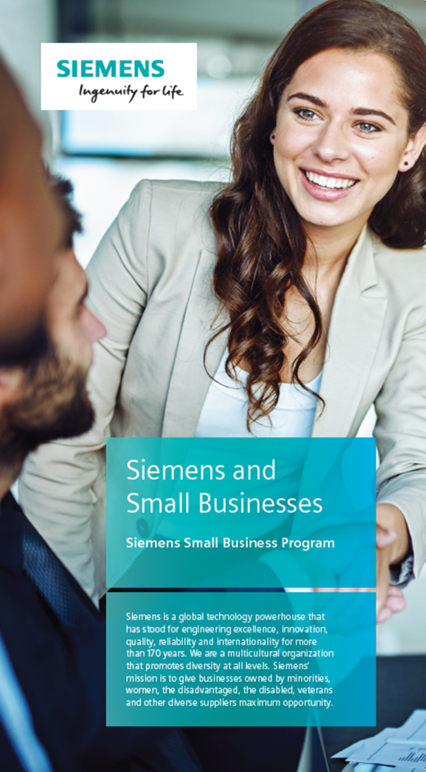 Siemens and Small Business brochure cover image