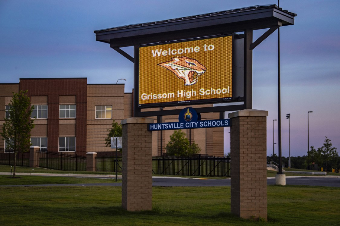 Grissom High School Sign