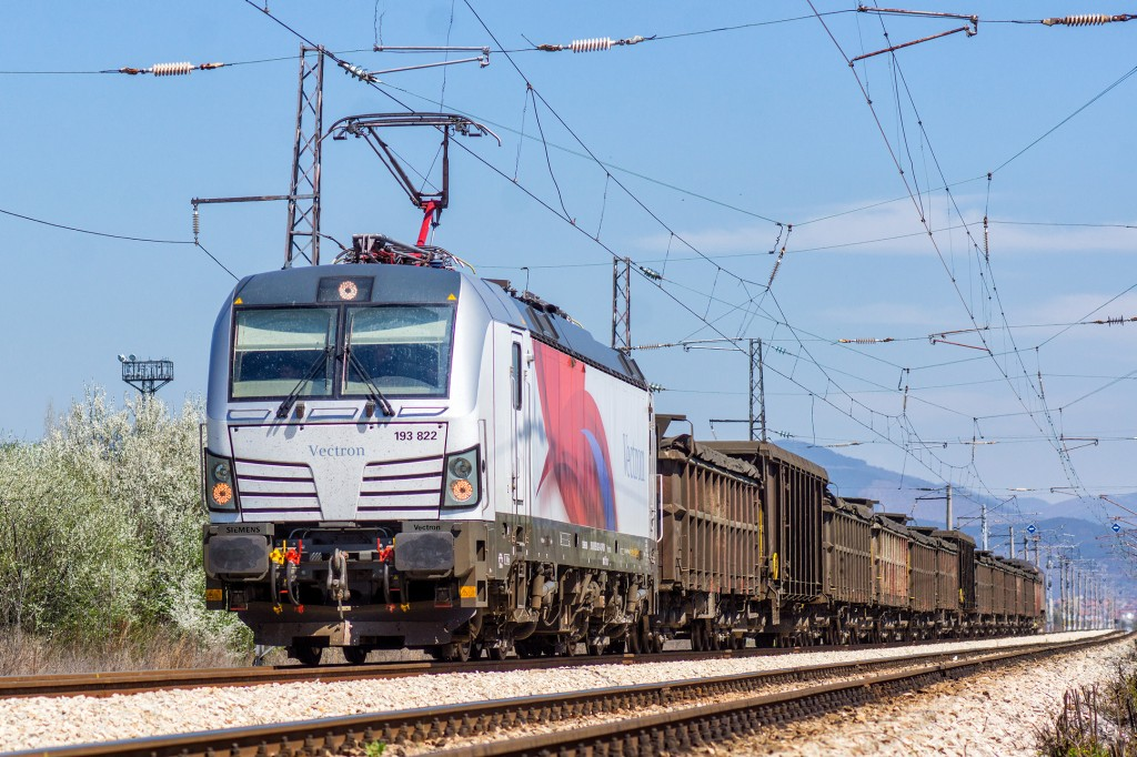 In the picture: The Vectron running electromagnetic tests near Sofia, Bulgaria.