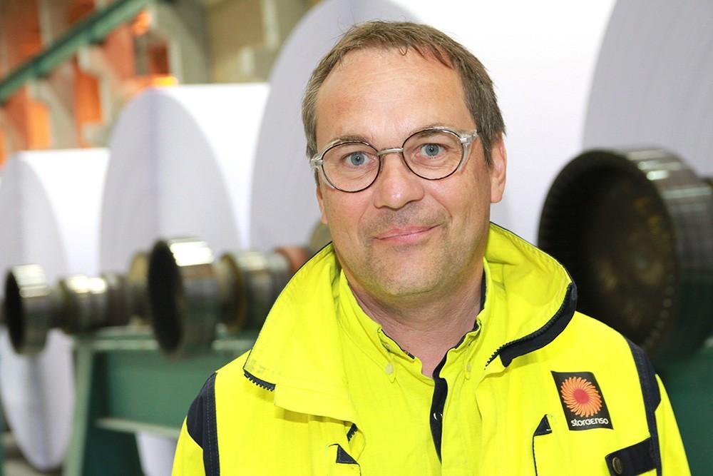 Tord Andersson, delprojektledare på Stora Enso Nymölla Bruk