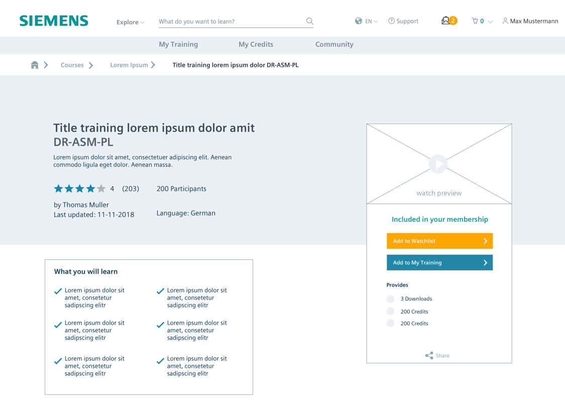 Overview of a knowledge element: Web-based training