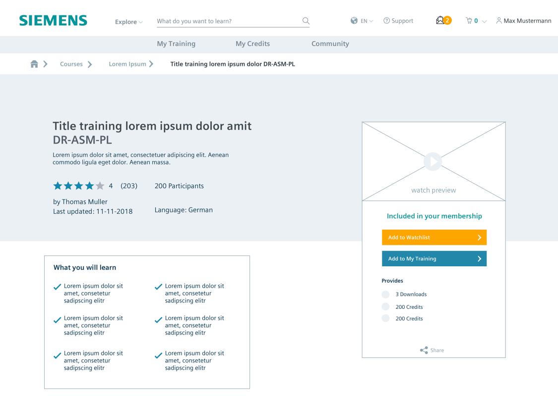 Übersicht über ein Wissenselement: Web based Training