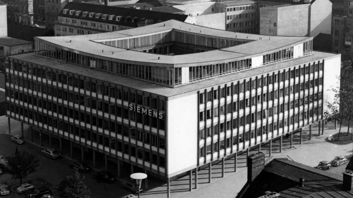 Elegant design – expansion of corporate headquarters in Munich, 1958