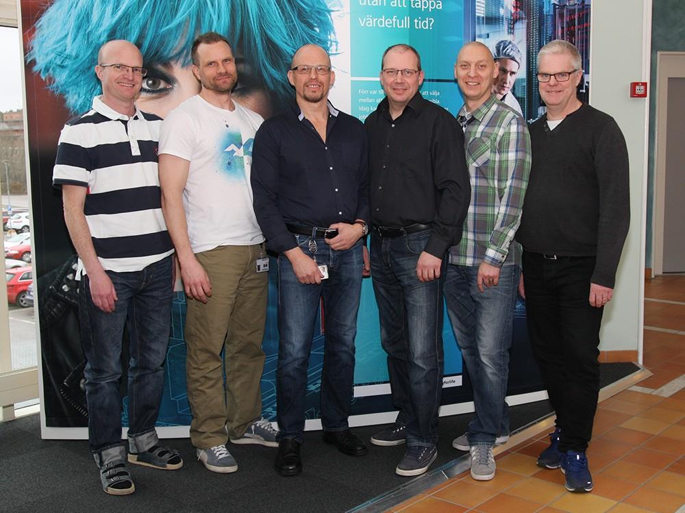 Några av Siemens kompetenta medarbetare som håller utbildningar: Per Dahlqvist, Jonas Hammarstedt, Pär Danielsson, Fredrik Johansson, Fredrik Hänninen och Jonas Larsson.