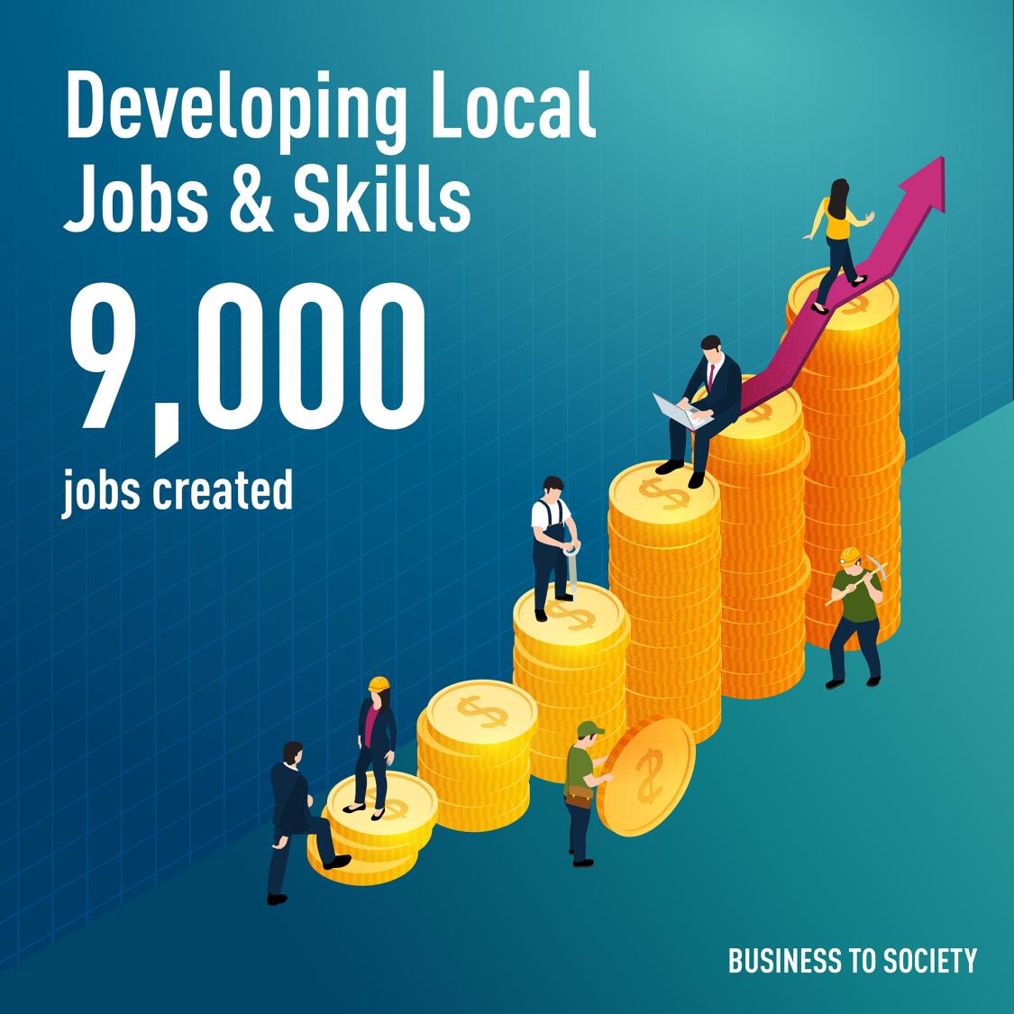 Developing local jobs & skills