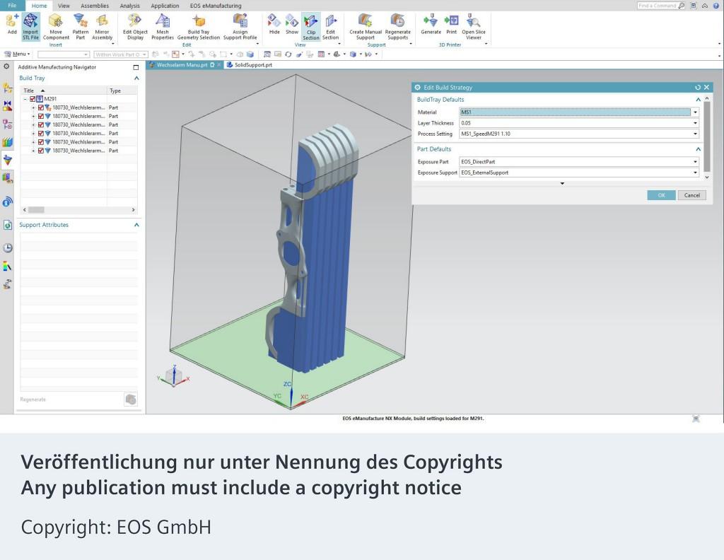 EOS und Siemens intensivieren Partnerschaft rund um den industriellen 3D-Druck