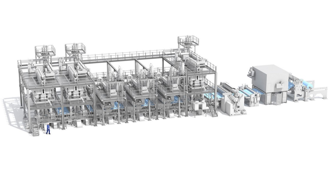 Reifenhäuser Reicofil's nonwoven plant, automated using SIMATIC S7-1200.