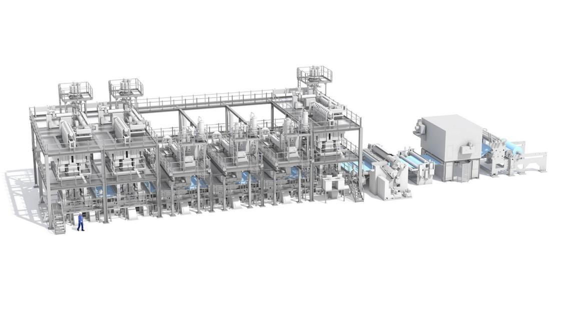 liesstoffanlage von Reifenhäuser Reicofil, automatisiert mit SIMATIC S7-1200.