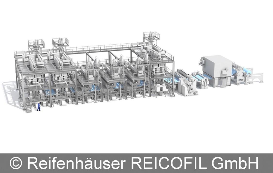 Reifenhäuser Reicofil's nonwoven plant, automated using SIMATIC S7-1200.