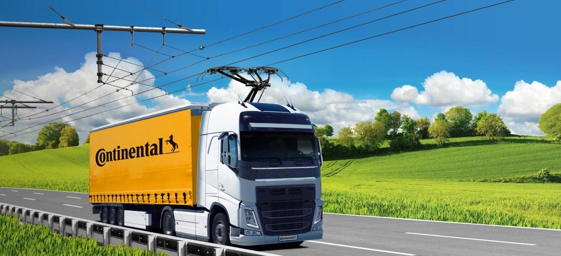 Siemens Mobility i Continental dostarczą w całej Europie cieżarowki zasilanie prądem z linii napowietrznych