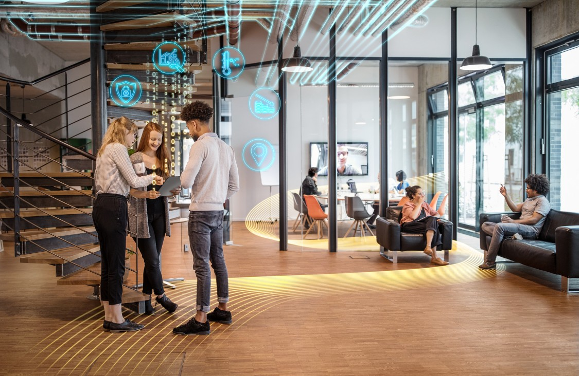 hybrid workplace smart office spaces