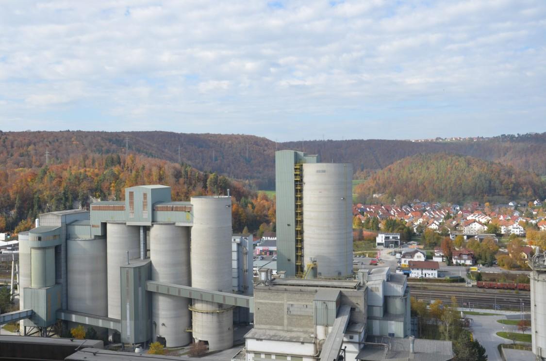 HeidelbergCement, Schelklingen site, aerial view