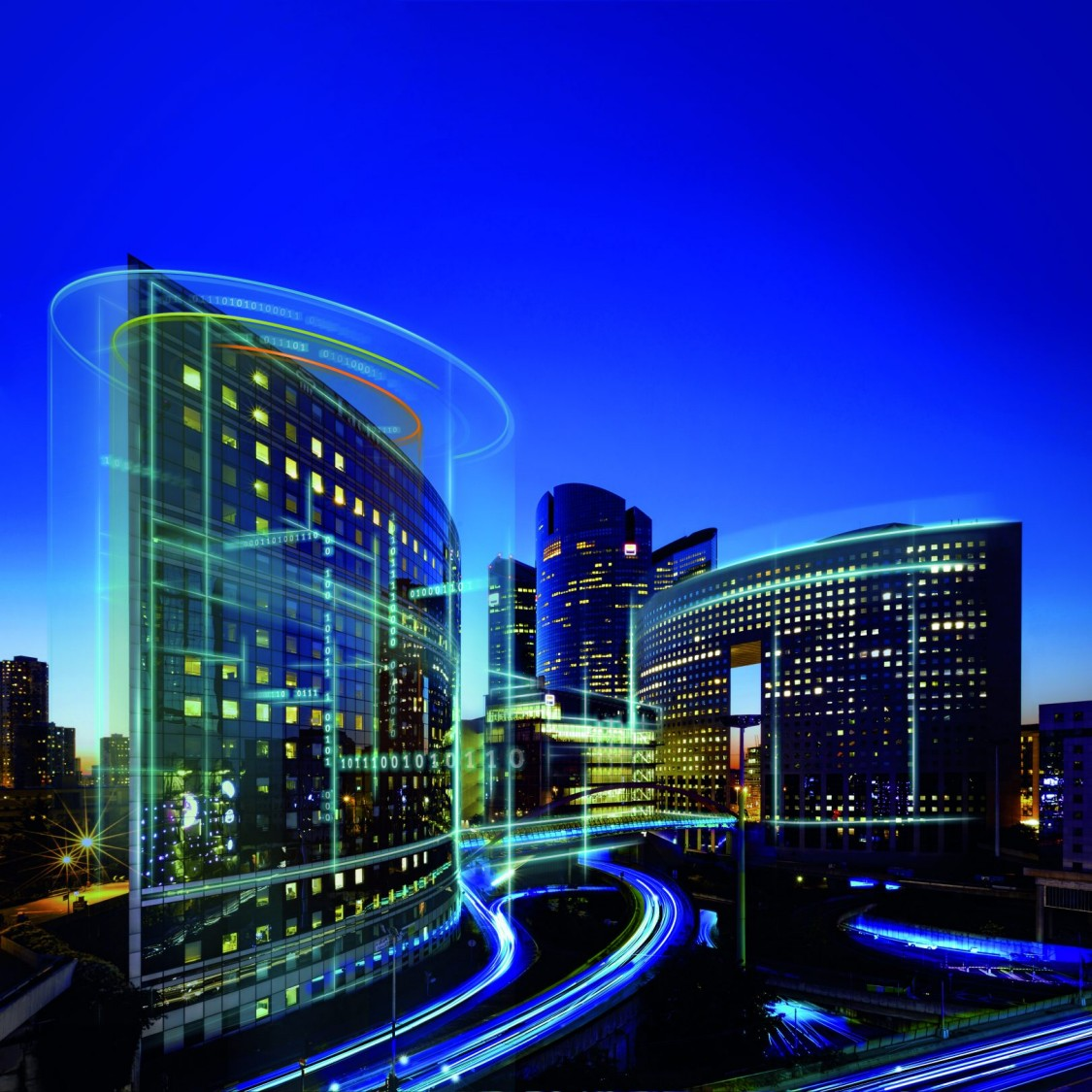 Building Information Modeling - digitalized city and traffic system