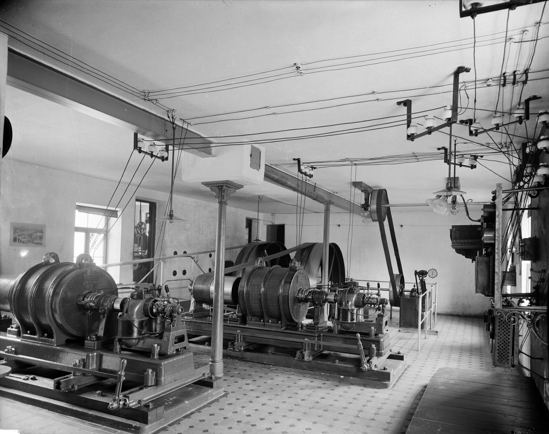 Three-phase AC power plant in Erding near Munich, 1892