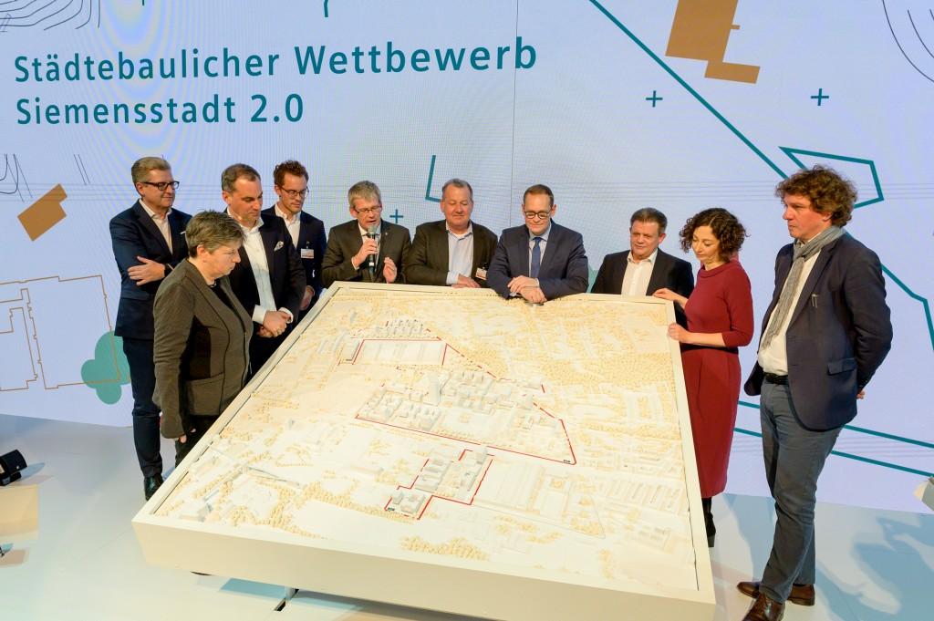 Jury Entscheidung zum städtebaulichen Wettbewerb Siemensstadt 2.0