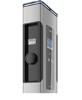Stacje do ładowania Siemensa posiadają 7-calowy wyświetlacz z obsługą w j.polskim i  dostępny  wizualnie licznik energii z MID