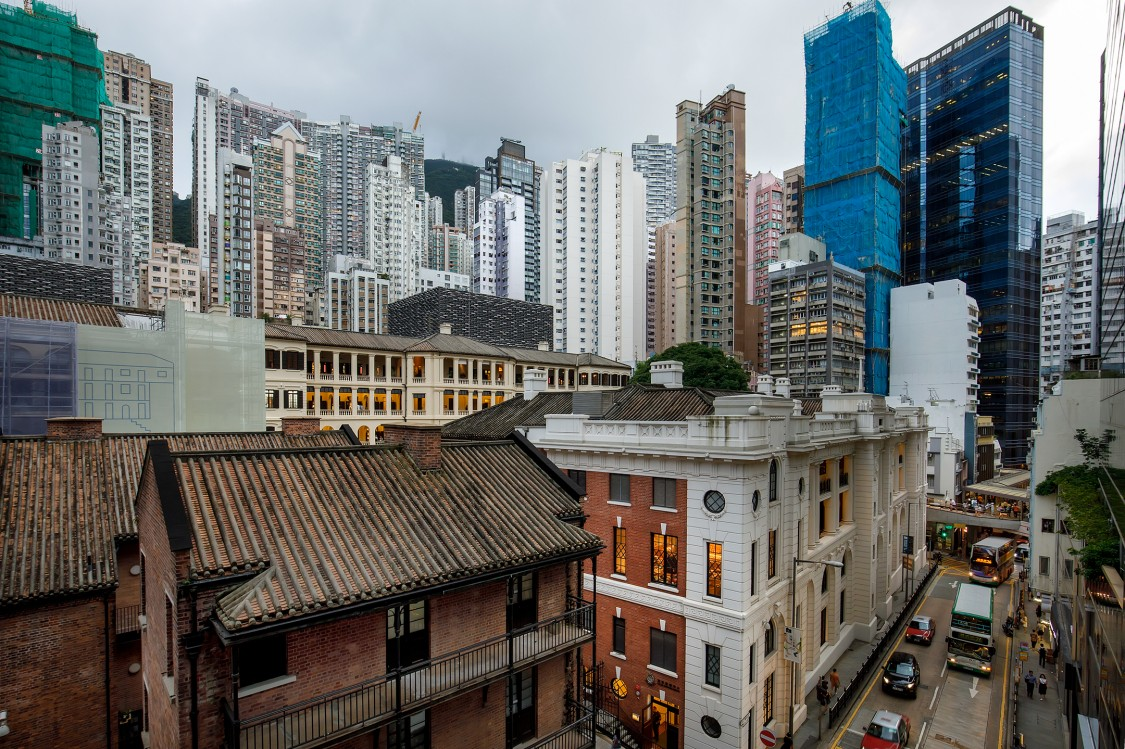 Tai Kwun Centre for Heritage and Arts with Hollywood Road