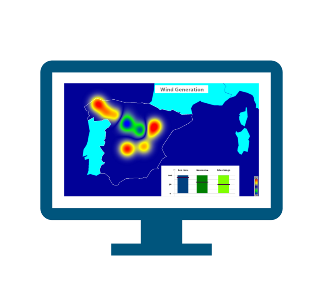 Monitor heat map
