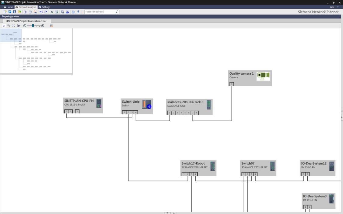 Software, který můžete použít pro simulaci sítě PROFINET a proaktivní plánování vašeho závodu.