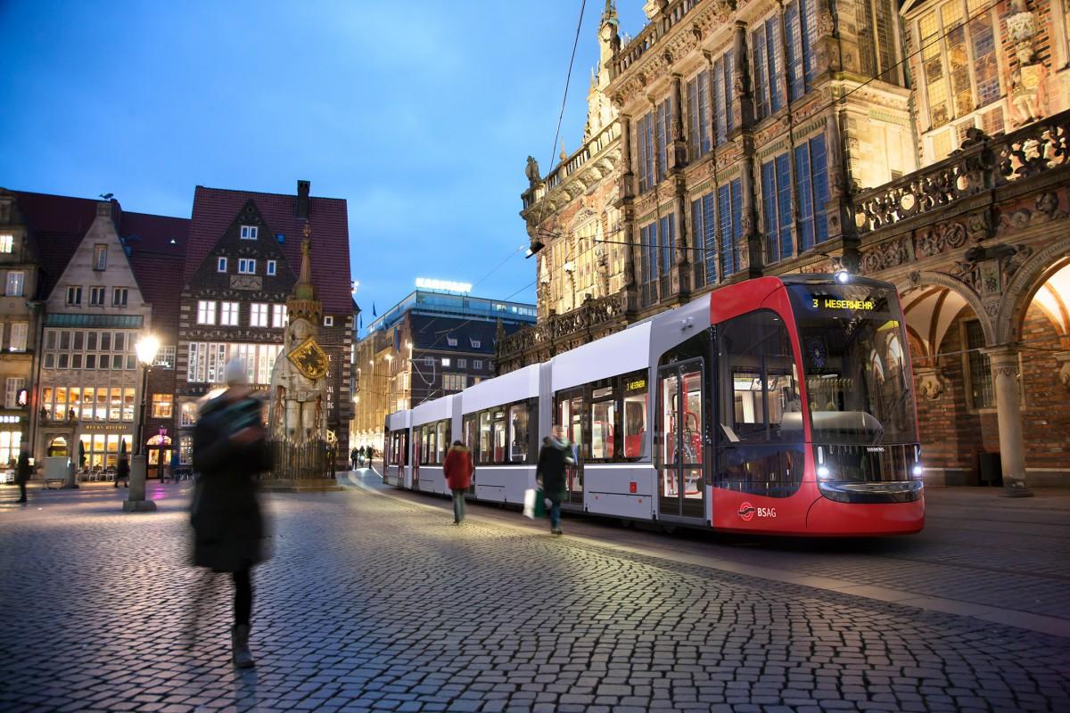 Neue Straßenbahn-Flotte für Bremen kommt von Siemens