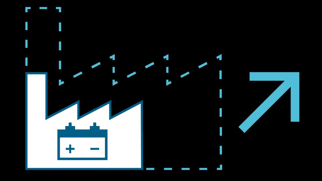 Icon Realisierung von neuen Anlagen