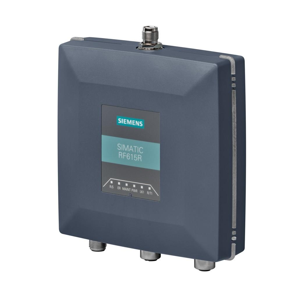 Das Bild zeigt den neuen kompakten UHF-Reader Simatic RF615R