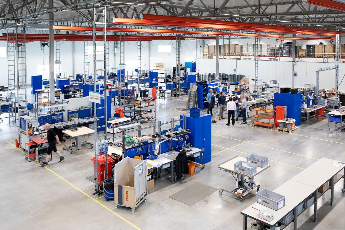 Drygt 3 000 m² monteringsyta har Elpro till förfogande i sin nya produktionsanläggning.