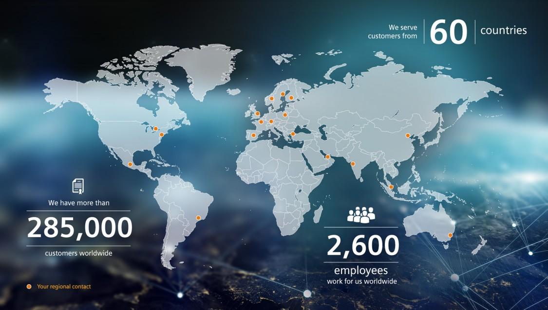 Expertos financieros de todo el mundo - países, clientes, empleados
