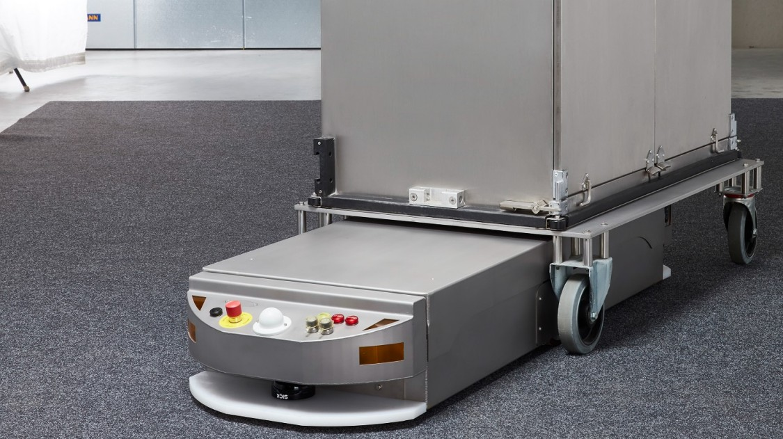 AGVs from Siemens navigate by laser, with no need for alteration work