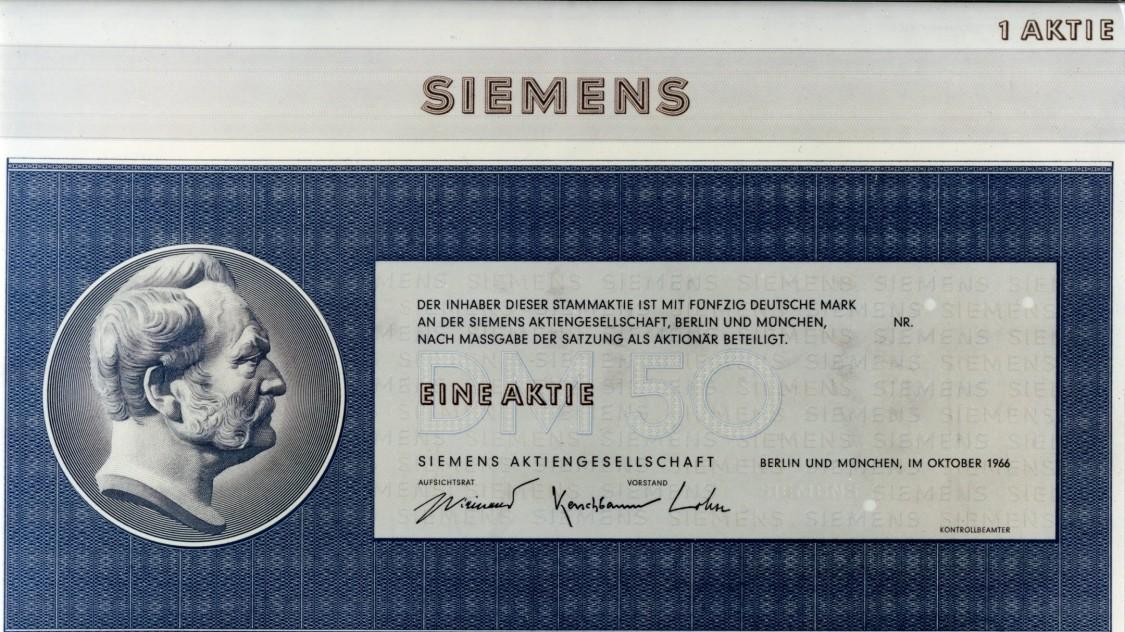 Siemens share