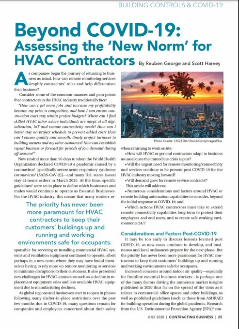 Beyond COVID-19: Addressing the new norm for HVAC contractors