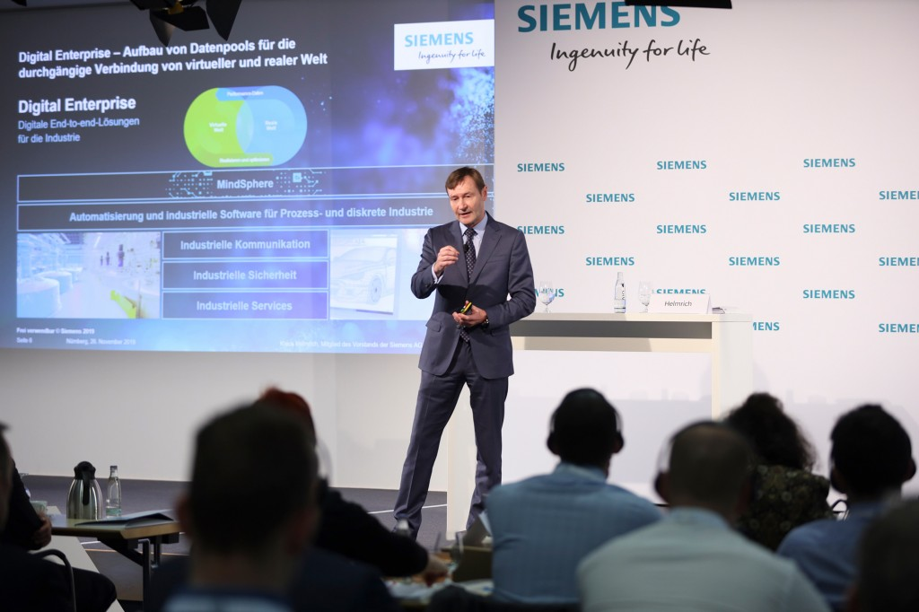 Klaus Helmrich at the press conference during SPS 2019