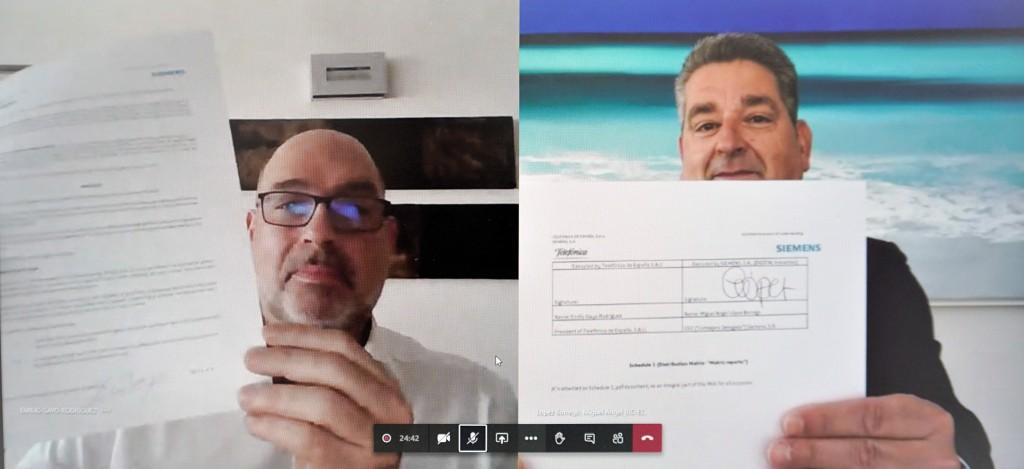 Firma acuerdo de ciberseguridad Telefónica Siemens