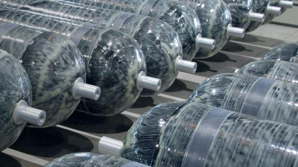 Type IV Wasserstofftanks als Einzelkomponenten